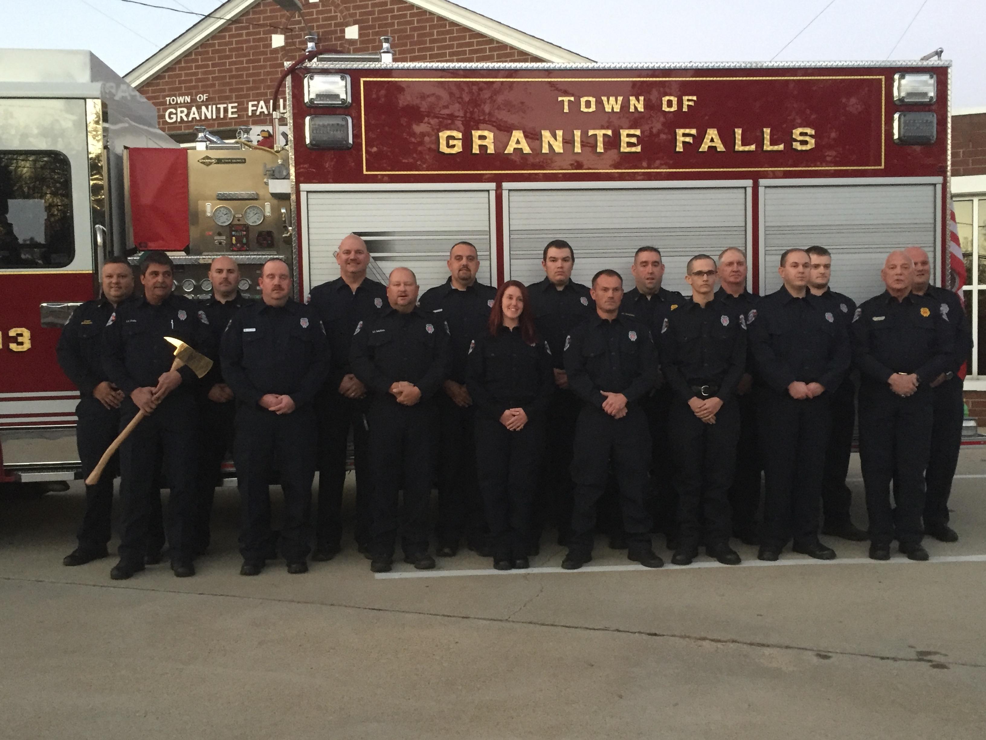 Granite Falls Fire Department Roster - Town of Granite Falls, North